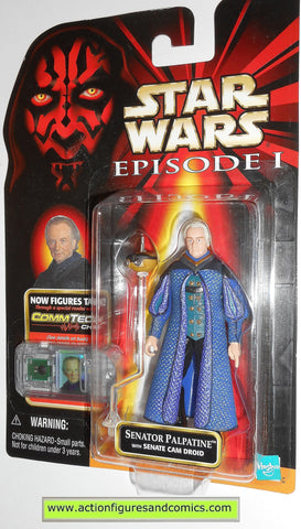 star wars action figures SENATOR PALPATINE episode I 1999 moc mip mib
