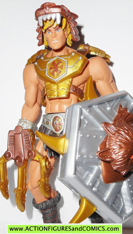 masters of the universe HE-MAN WOLF ARMOR 2002 motu action figures