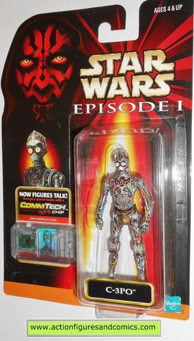 star wars action figures C-3PO episode I 1999 moc mip mib
