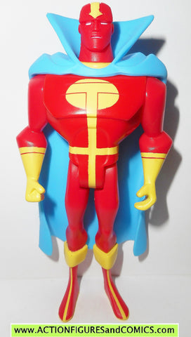 justice league unlimited RED TORNADO solid yellow emblem dc universe