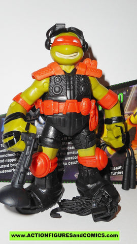 teenage mutant ninja turtles MICHELANGELO stealth tech 2015 Nickelodeon playmates toys tmnt card