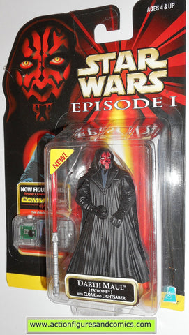 star wars action figures DARTH MAUL TATOOINE episode I 1999 hasbro toys moc mip mib