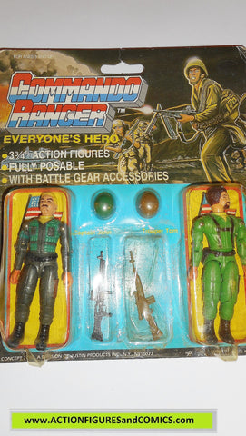 commando ranger demon gi joe CAPTAIN JOHN TROOPER TOM 1987 MOC