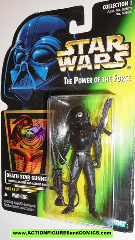 star wars action figures DEATH STAR GUNNER collection 1 .01 power of the force moc