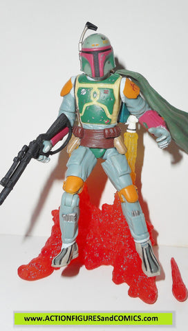 star wars action figures BOBA FETT pit of carkoon 2003 complete attack of the clones saga aotc