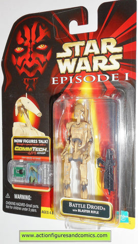 star wars action figures BATTLE DROID dirty variant episode I 1999 moc