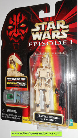 star wars action figures BATTLE DROID clean variant episode I 1999 moc