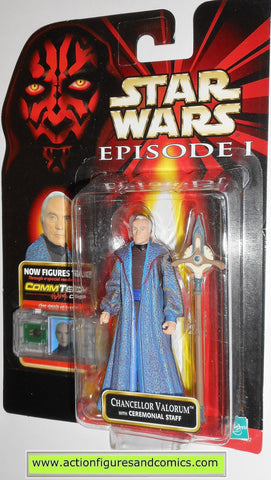 star wars action figures CHANCELLOR VALORUM episode I 1 1999 hasbro toys moc
