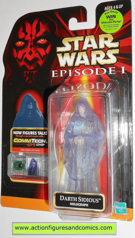 star wars action figures DARTH SIDIOUS HOLOGRAPH episode I 1999 hasbro toys moc mip mib