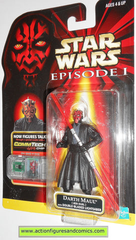 star wars action figures DARTH MAUL JEDI DUEL episode I 1999 hasbro toys moc mip mib
