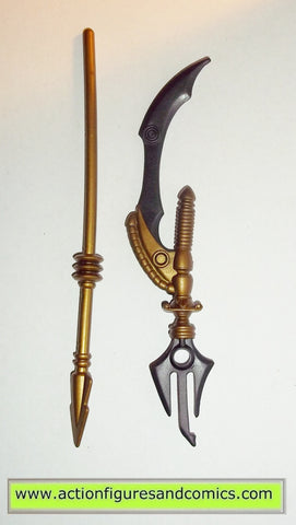 masters of the universe WHIPLASH classics WEAPONS UPGRADE gold spear blade mattel toys action figures