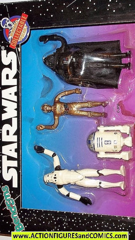 star wars action figures bend-ems 4 PIECE GIFT SET original 1993 moc