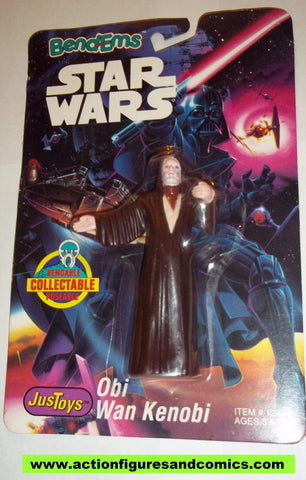 star wars action figures bend-ems OBI WAN KENOBI 1993