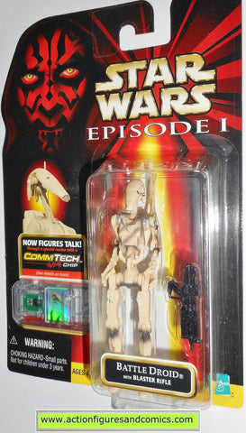 star wars action figures BATTLE DROID sliced variant episode I 1999 moc