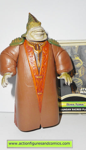 star wars action figures BOSS NASS gungan sacred place power of the jedi 2000 2001