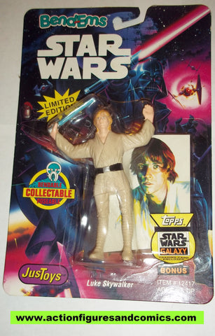 star wars action figures bend-ems LUKE SKYWALKER 1993 trading card moc mip mib