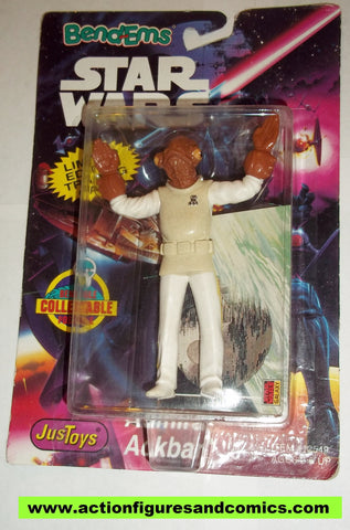 star wars action figures bend-ems ADMIRAL ACKBAR 1994 full bubble moc