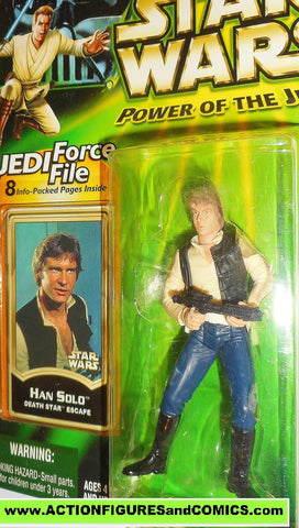 star wars action figures HAN SOLO death star escape power of the jedi moc