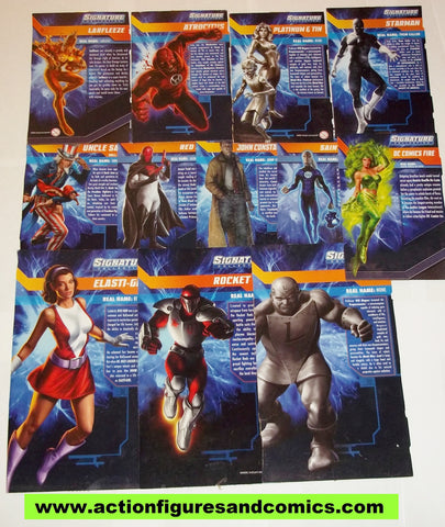 dc universe classics BOX BACKS superb artwork! larfleeze atrocitus fire red hood lot