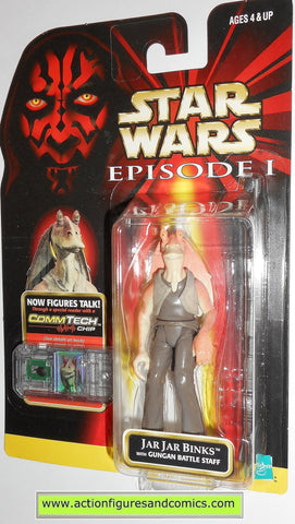 star wars action figures JAR JAR BINKS .01 episode I 1999 moc