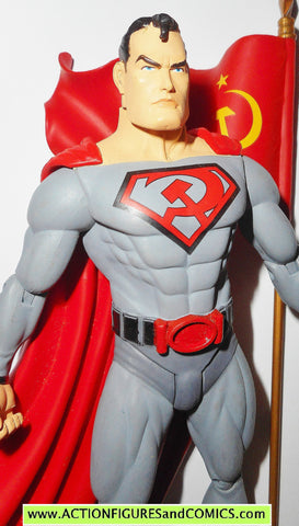 dc direct SUPERMAN RED SON series 1 russian flag action figures