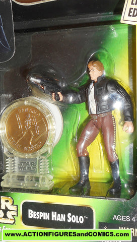 star wars action figures HAN SOLO BESPIN millenium coin power of the force moc