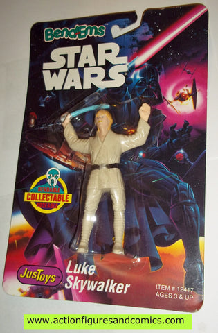 star wars action figures bend-ems LUKE SKYWALKER 1st release moc mip mib