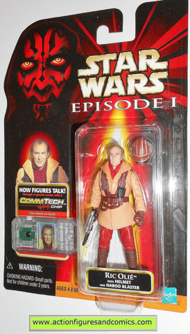 star wars action figures RIC OLIE naboo pilot episode I 1999 moc mip mib