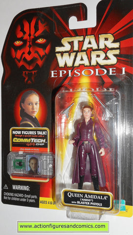star wars action figures QUEEN AMIDALA NABOO episode I 1999 moc kenner hasbro toys