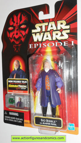 star wars action figures SIO BIBBLE episode I 1 1999 hasbro kenner toys moc