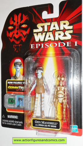 star wars action figures ODY MANDRELL pod racer episode I 1999 moc