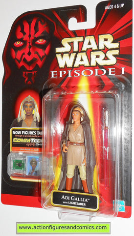 star wars action figures ADI GALLIA episode I 1999 hasbro toys moc mip mib