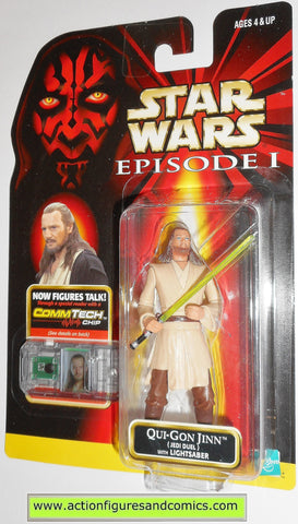 star wars action figures QUI GON JINN jedi duel episode I 1999 moc