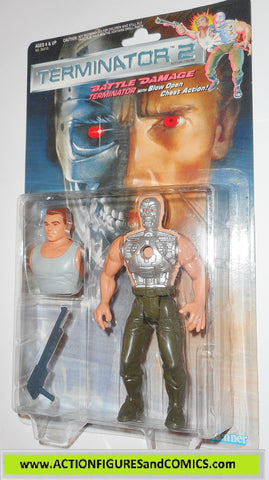 Terminator kenner BATTLE DAMAGE T-800 movie 2 action figures toys moc mip mib