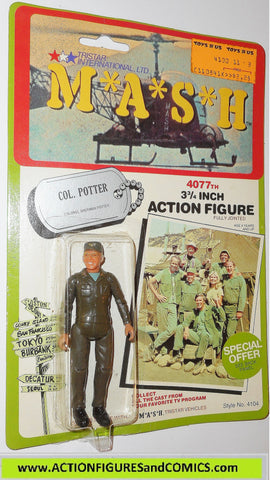 M*A*S*H* mash tv series action figures COL POTTER 1982 moc mip mib