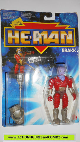 Masters of the Universe HE-MAN 1988 BRAKK FLOGG new adventures action figures mosc