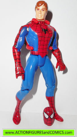 Spider-man the Animated series PETER PARKER unmasked toy biz action figures