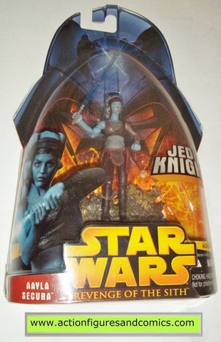 star wars action figures AAYLA SECURA 32 2005 revenge of the sith hasbro toys moc mip mib