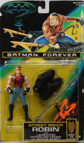 BATMAN FOREVER movie series 1995 STREET BIKER ROBIN new moc kenner hasbro