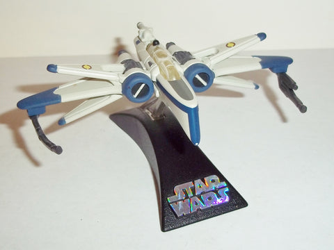star wars titanium ARC-170 blue complete 3 inch series hasbro