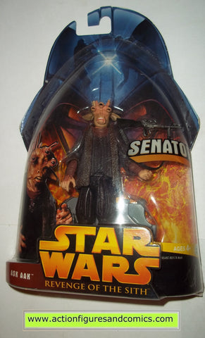 star wars action figures ASK AAK SENATOR 46 2005 revenge of the sith hasbro toys moc mip mib