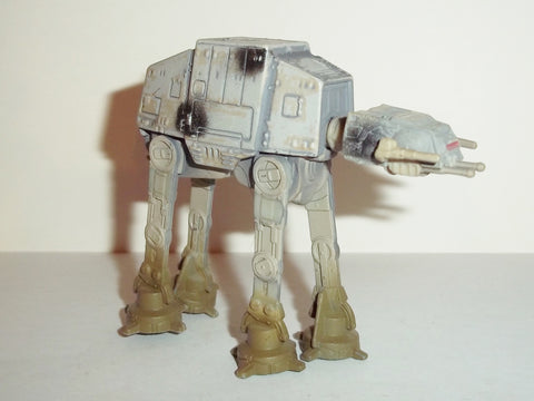 star wars titanium AT AT endor battle damaged hasbro fig