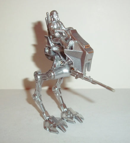 star wars titanium AT-RT silver exclusive complete ugh chase raw metal