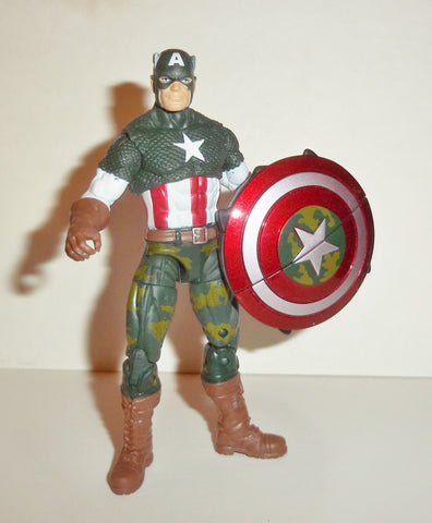 marvel universe CAPTAIN AMERICA jungle camo combat complete movie hasbro