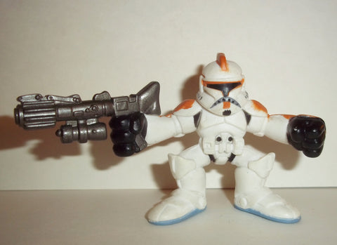 STAR WARS galactic heroes CLONE TROOPER orange white knee pads