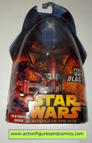 star wars action figures DESTROYER DROID 44 2005 revenge of the sith hasbro toys moc mip mib