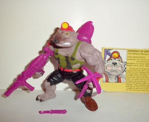 teenage mutant ninja turtles DIRTBAG 1991 vintage 100% complete tmnt