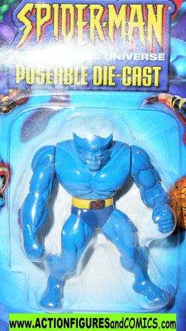 SPIDER-MAN Marvel die cast BEAST blue x-men poseable 2003 toybiz MOC