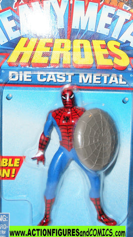 Marvel die cast SPIDER-MAN WEB SHIELD poseable 1997 toybiz MOC