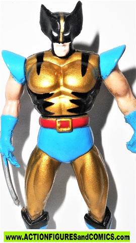Marvel die cast WOLVERINE GOLD glossy poseable metals x-men 1995 toybiz universe